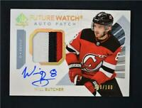 2017-18 UD Upper Deck SP Authentic Future Watch Auto Patch Will Butcher /100