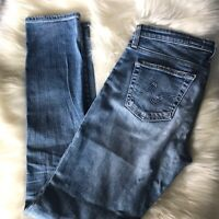 AG Adriano Goldschmied The Stilt Cigarette Leg Jean Distressed Size 27
