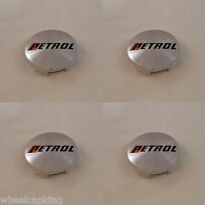 Petrol Wheels Silver Custom Wheel Center Cap Set of 4 # PC-G18 NEW!