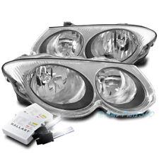 FOR 99-04 CHRYSLER 300M HALOGEN HEADLIGHT HEADLAMP LAMP CHROME W/6K HID KIT PAIR