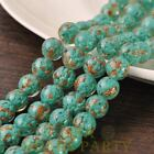 Hot 5pcs 12mm Lampwork Glass Dots Loose Spacer Round Beads Charms Lake Green