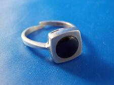 GTR Design Ring 835 Silber mit schwarzem Stein vintage Ø18mm Modernist variabel