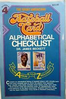 Sport Americana:Baseball Card Alphabetical Checklist No. 4 by James Beckett-1990