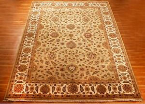 Area Rugs 9x12 Hand Knotted Wool Carpet Green Handmade Indien Traditional Rugs