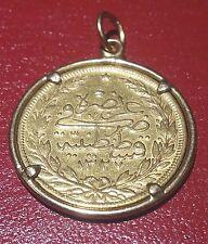 OTTOMAN EMPIRE, Mehmet V AD (1909-1918), AV 100 kurush Gold Coin Pendant