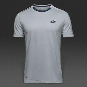 Lotto Men's Dragon Tech Polo Tee Shirt Tennis Sport - Pearl