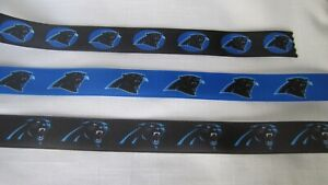 "North Carolina Panthers 7/8"" Grosgrain Ribbon By the Yard"