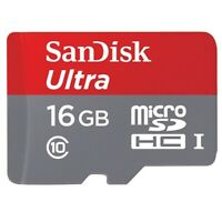 Sandisk Ultra 16GB High Speed MicroSD Memory Card Micro-SDHC for Smartphones