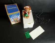 Vintage Bradley The Christmas Bubble Bear in Original Box TESTED WORKS
