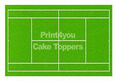 Cancha de tenis Wimbledon hierba A4 Cake Topper Glaseado Hoja Impresa
