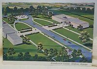 Eisenhower Center Abilene Kansas Vintage Postcard