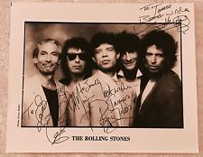 ROLLING STONES Photograph DIMO SAFARI B&W Promo Press Photo SIGNED AUTOGRAPHED