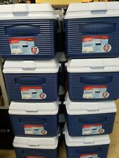 2 RUBBERMAID 10 Qt Chest Coolers Beverage Cold Camping NEW Blue