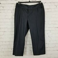 Mossimo Capris Cropped Pants Womens Size 10 Pockets Stretch Dark Gray
