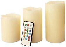 Control Remoto De Cambio De Color LED de luces de seguridad vela sin llama con temporizador