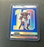 2020 Panini Playoffs DeAndre Hopkins Behind The Numbers Blue Prizm Refractor