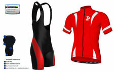 Abbigliamento rossi in maglia per ciclismo taglia L