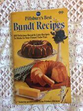 Vintage Pillsbury's Best Bundt Recipes Book Cookbook