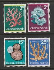 1973 TOKELAU ISLANDS CORAL SET SG 37/40 M/MINT