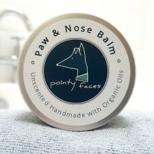 Dog Paw and Nose Balm Organic Unscented. Butter for Dry Skin, Paws and Noses 30g