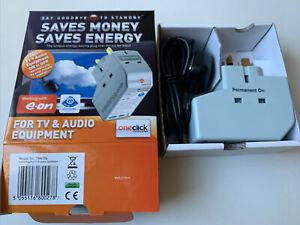 Intelliplug TVA106 Remote Powerdown Energy Saver TV & AUDIO Equipments OneClick