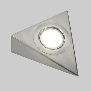 TRIANGLE UNDER CABINET LED MAINS KITCHEN CUPBOARD LIGHT KIT COOL WARM WHITE