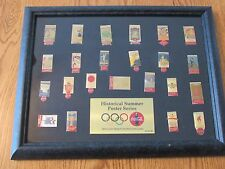 Coca Cola Olympic Historical Summer Poster Series 23 Pin Set Framed