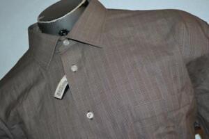 21386-a Mens Joseph Abboud Dress Shirt Size 2XL TALL Brown Plaid NEW TAGS