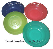 Tupperware Toys Children's Mini Party Cereal Bowls Set Red Blue Green Aqua