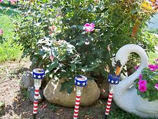 Solar Light Stakes Patriotic Yard Garden Driveway Lawn Patio Landscape-8 Lights.