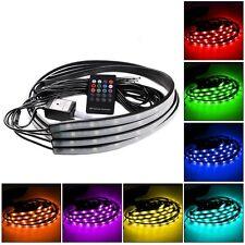 RGB 5050 DEL Neon Voiture Tube Bande Lumière Underglow sous-sol Musique app Kit
