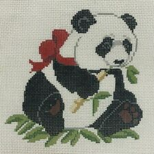 New ListingPanda Dayan Cameron Quail Run Panda Needlepoint Canvas Handpainted