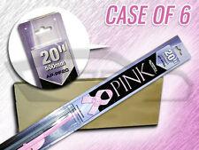 "AUTOTEX 20"" AP-PF20 PINK BEAM FLEX WIPER BLADES CS OF 6 BREAST CANCER AWARENESS"