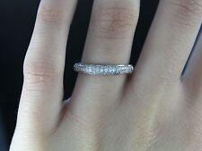 $1,150 Kay Jewelers 14K White Gold Round Diamond Diamond Wedding Band Ring Sz 7