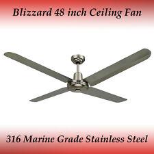 "Blizzard 316 Marine Grade Stainless Steel 1200mm 48"" Outdoor Ceiling Fan"