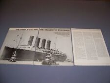 """VINTAGE..TITANIC """"THE FIRST S.O.S""""..HISTORY/DETAILS/PHOTOS..RARE! (154N)"""