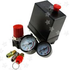 Air Compressor Pressure Control Switch Valve Manifold Regulator Gauges Relief