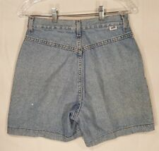 "Vtg LEE No Back Pocket Pleated Mom Jeans Shorts Sz 8 26"" high waist"