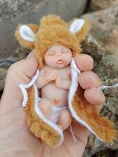 Baby Clay Miniature Realistic, bebé reborn mini, ooak baby Doll, tiny esculpture