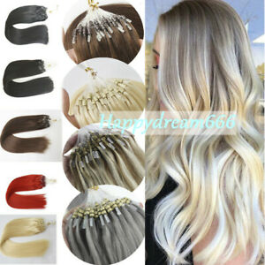 Loop Micro Ring Hair Extensions Silicone Micro Beads Link100% Remy Human Hair 1g