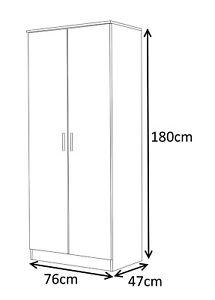 Reflect Wardrobe Large & Small Bedroom 1 to 9 Door Black | Grey | Walnut | White