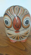Lovely Original Vintage Tonala Owl. Mexican Folk Pottery.