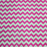 "Chevron Poly Cotton Zigzag Fabric 56"" / 58"" Width By The Yard Fuchsia"