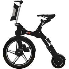 NEW QFX BIK6BLACK Unfold Go BIK-6 Electric Bike Road Bicycle n 10in Elect Blk