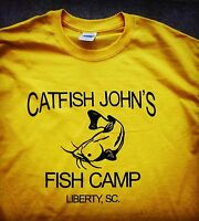 Jerry Garcia Grateful Dead Hand printed t shirt Vintage Style fish S-5Xlg yellow