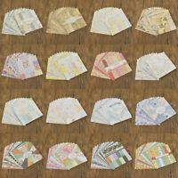 24Pcs Background Paper Pad Card DIY Scrapbook Handcraft Making Decor Accessories
