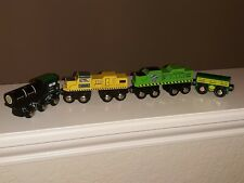 Battat Wooden Locomotive Train car lot (4)- preowned