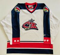 Vintage Pro Player Columbus Blue Jackets NHL Men's 2XL Stinger Hockey Jersey.