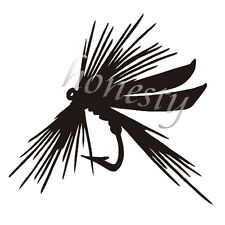 Fly Fishing Window Door Car Sticker Laptop Truck Black Vinyl Decal Sticker Decor