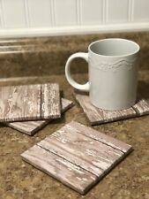 "Set Of 4 ""Old Fence"" Drink Coasters"